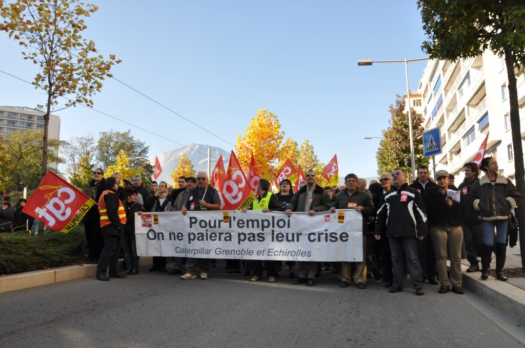 Grenoble. CGT Cartepillar