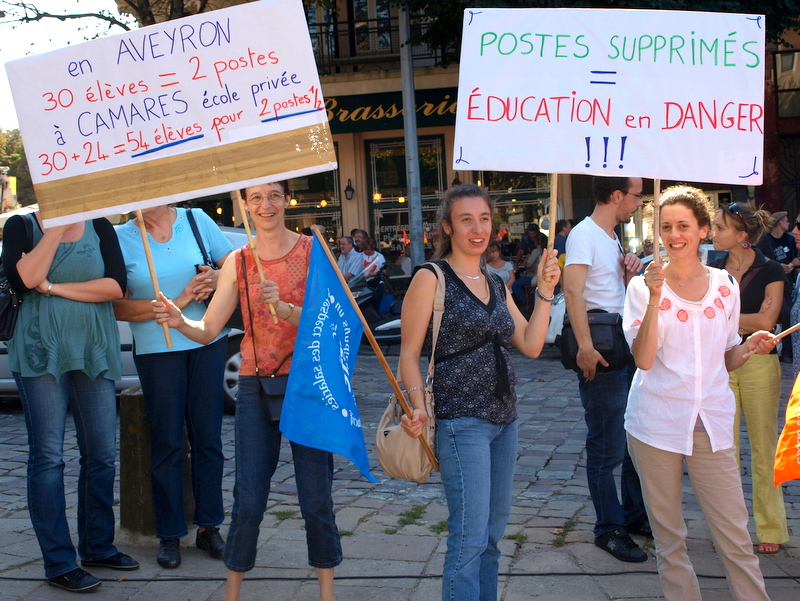 MANIF EDUCATION RODEZ AVEYRON 27 SEPTEMBRE 2011