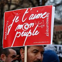 Manif Tunisie à Paris 15/01/2011