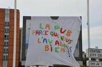 Manif antiG8 le Havre 21 mai 2011, action antipub