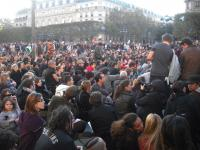 Sit-in place de l'Hôtel de ville