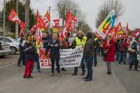 Manifestation syndicale à Pithiviers (Loiret)