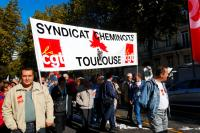 Manifestation du Service Public contre la privatisation de GDF