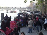 Occupation des berges de la Seine
