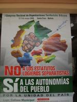 Bolivie Santa-Cruz Affiche contre le referendum