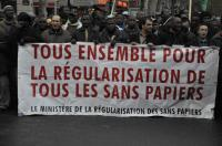 Paris, collectif de sans papiers